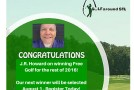 J.R. Howard Wins Free Golf for 2016