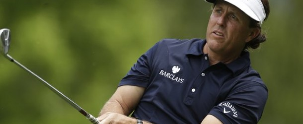Mickelson Leads After 36 at Quail Hollow