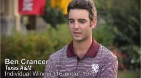 Kirkwood Grad, Ben Crancer Wins Dick's Sporting Goods Collegiate